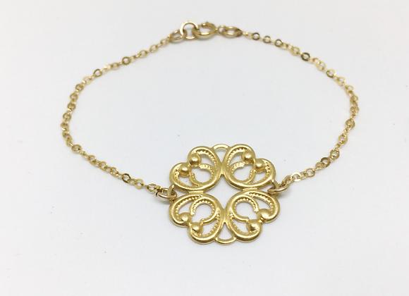Gold Mandala Pendant Bracelet