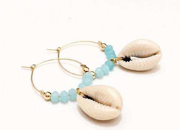 Seashell Hoop Earrings
