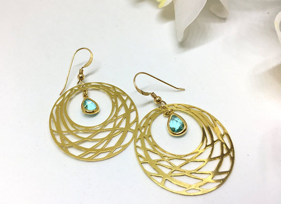 Large Geometric Gold Earrings