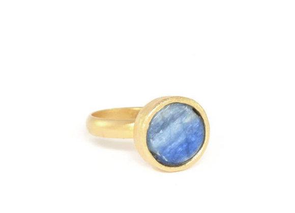 טבעת זהב כחולה