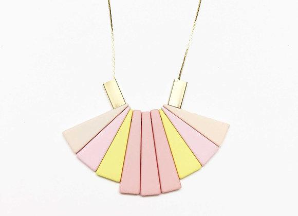 Pastel Fan Necklace