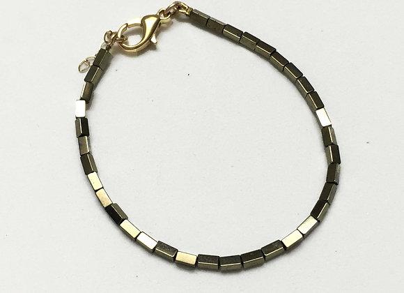 Tube Gold Hematite Bracelet