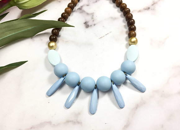 Chunky Blue Beaded Necklaces