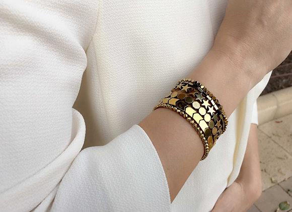 Hematite Gold Bracelets Set