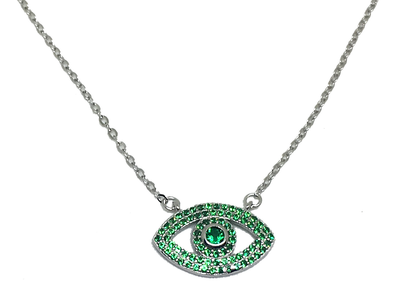 Green CZ eye pendant