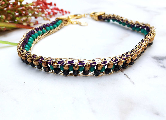 Knitted Choker With Crystals