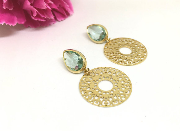 Stud Drop Gold Earrings