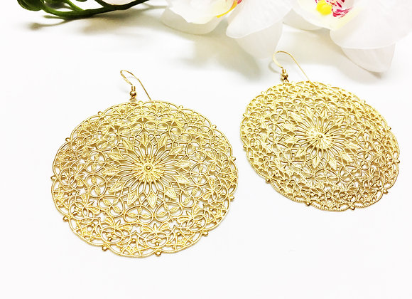 Statement Mandala Earrings