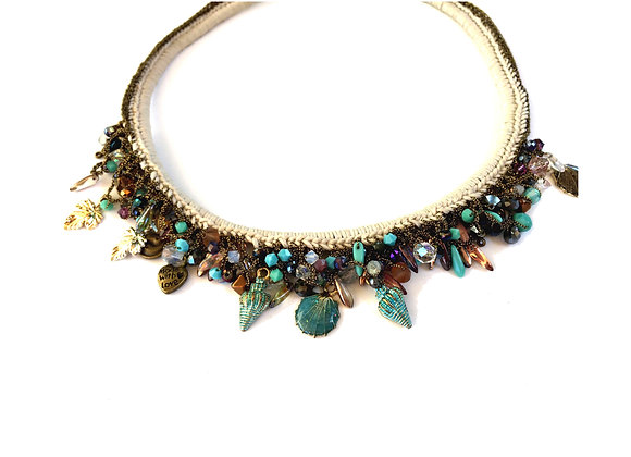 Multi Charms Statement Necklace
