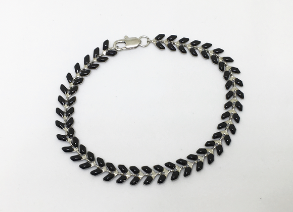 Black Chevron Bracelet