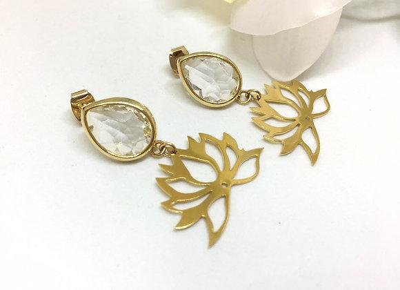 Stud Lotus Earrings