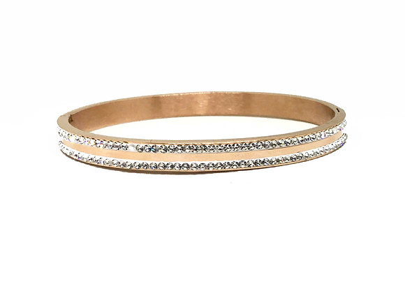 rose gold CZ bangle