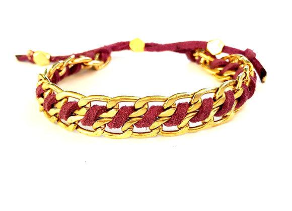 pink Chunky Chain Bracelet