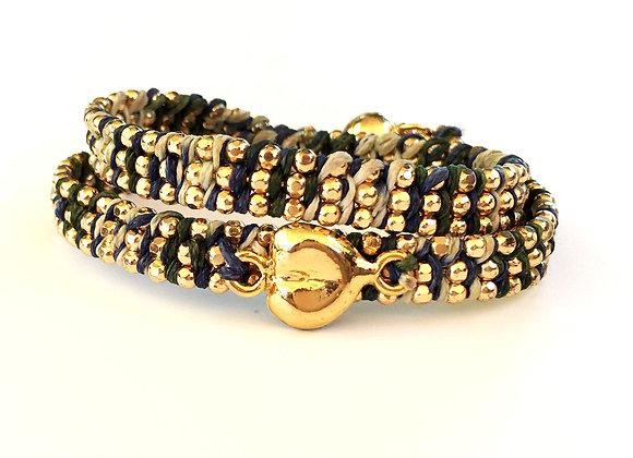 Wrap Bracelet with Heart Pendant