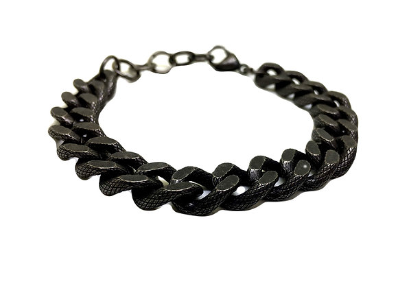 Men's Black Chunky Chain Bracelet