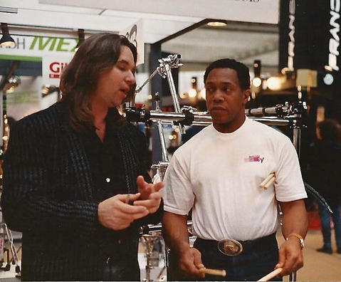 Meeting Mr Cobhan for the first time in Germany - early '90's. Wonderful experience.