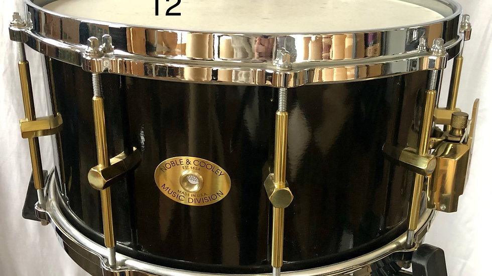 6-1/2X14 Black Lacquer SS, Early lugs