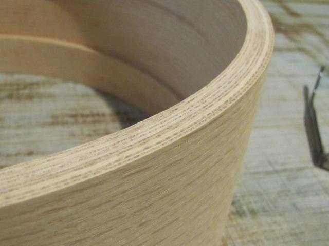 """10-ply """"Flecked Oak"""" shell with 10-ply oak rings."""