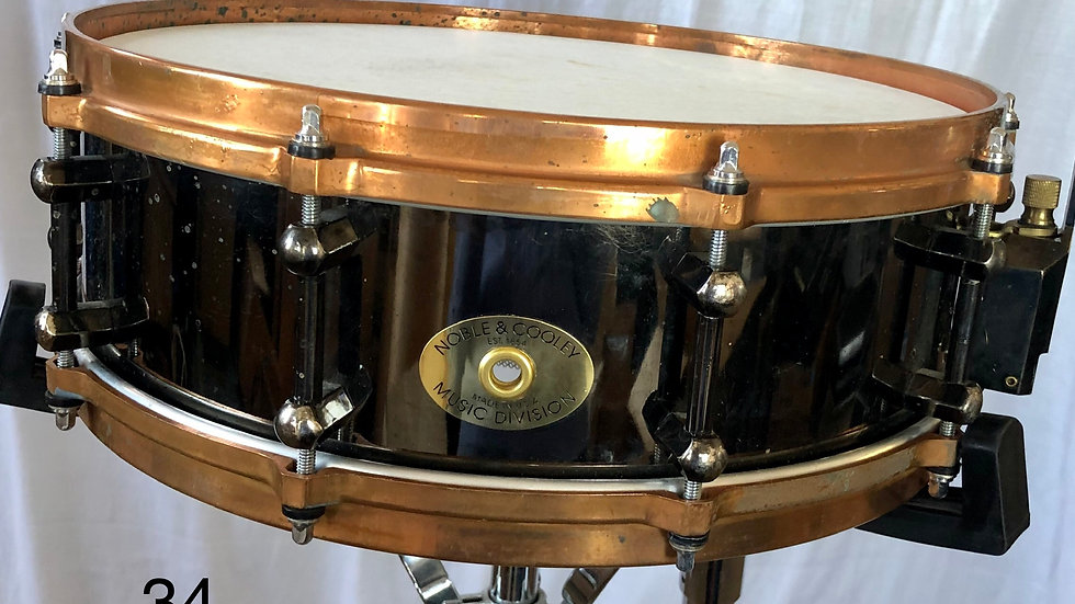 4x14 Black NC Zildjian Prototype, Copper Hoops, Only one made
