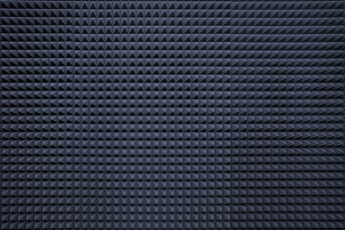 Background of studio sound dampening aco