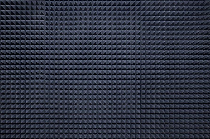 Background of studio sound dampening aco