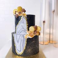 Gold x Black x Marble ✨_-_#sgcakes #sgca