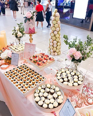A dessert table for Love & Co. Event x T
