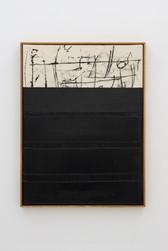 Composition black / scribble top / oilstick line / heavy gel gloss bottom