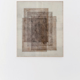 2016 Paper, pigment, epoxy, wooden frame 122 x 102 cm
