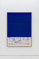 Composition blue / open bottom