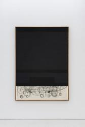 Composition black / circle bottom