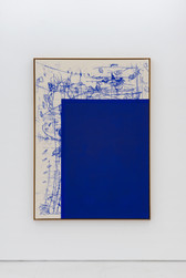 Composition blue / square corner
