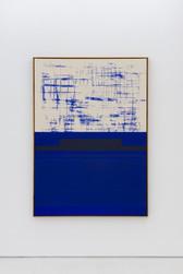 Composition blue / grid top