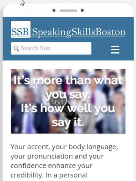 Speaking Skills Boston website