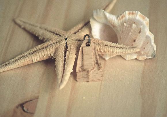 Barbatana estilo Dafin pendente