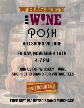 Whiskey & Wine Event Ad