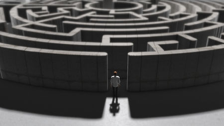 person entering a maze making decisions.jpg
