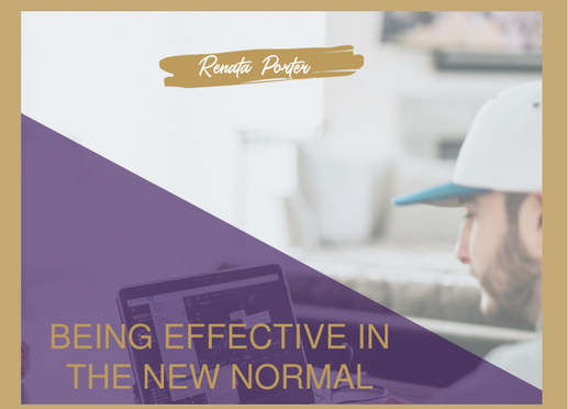 Being Effective in the New Normal of Remote Working