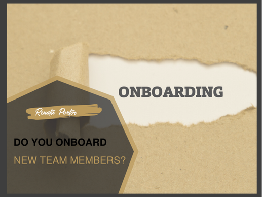 Do you onboard your new team member or do you leave it for HR?