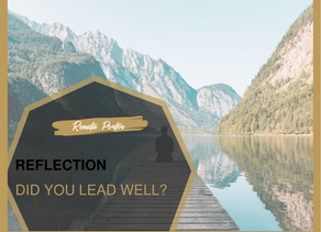 Reflecting on your year, did you Lead well?