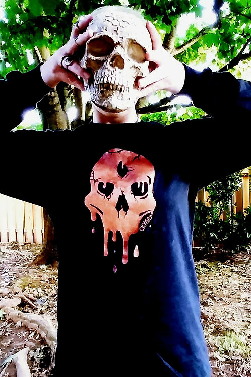 Unisex Skull Meltdown Sweatshirt