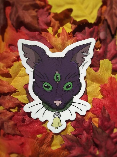 All-Seeing Cat sticker