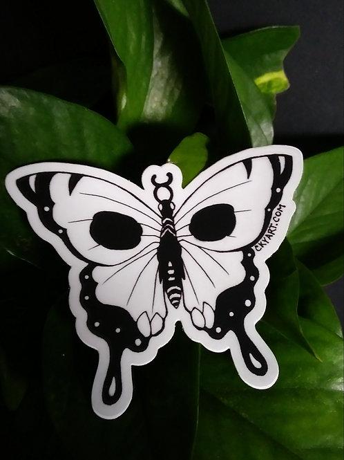 Death's Fragile Wings Sticker