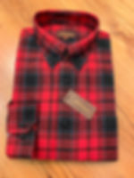 RED/GRAY PLAID FLANNEL