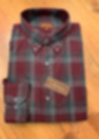 BURGUNDY_GRAY PLAID FLANNEL