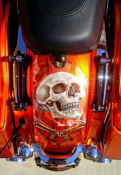 Full motorcycle custom paint jobs