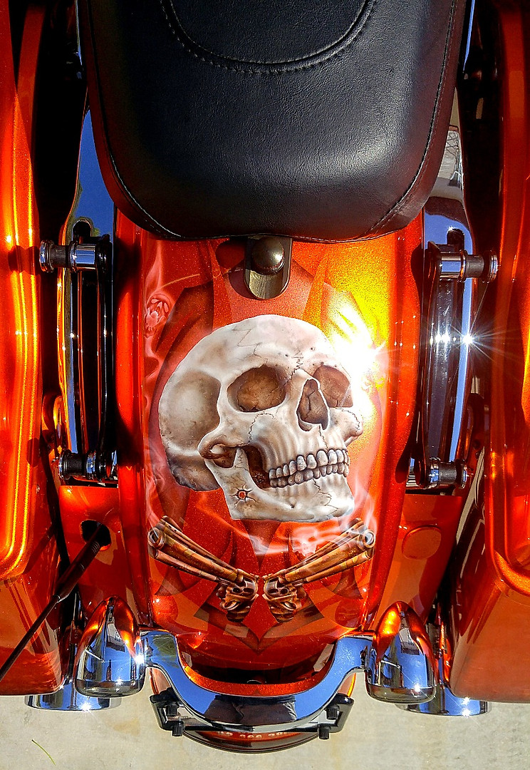 Full motorcycle custom paint jobs