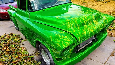 Flames Painted On Cars, Green Flames Paint Jobs, Flame Painter, Flame Painting, Flame Paint Jobs, Airbrush Flame Paint Jobs, Airbrush Real Flame Painting, Airbrush Real Flame Painting, Airbrush Flame Designs, Airbrushed Flames, Airbrushed Fire, Airbrushed True Fire Green, Airbrushed Green Fire, Airbrushed Green Flames