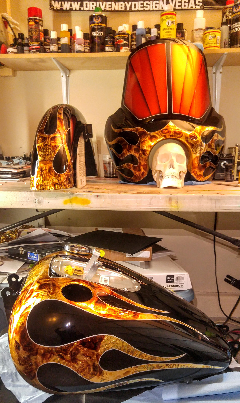 Custom Paint Airbrush Pinstriping Gold Leafing Auto
