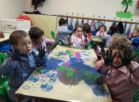 Arte en Sala de 3 -  Monos